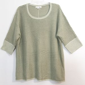 Simply Noelle moss & olive knit tunic sweater XL
